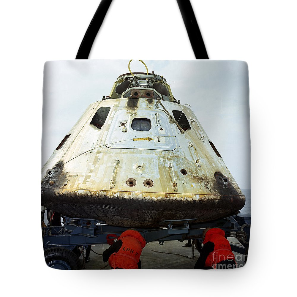1969 Tote Bag featuring the photograph Close-up View Of The Apollo 9 Command by Stocktrek Images