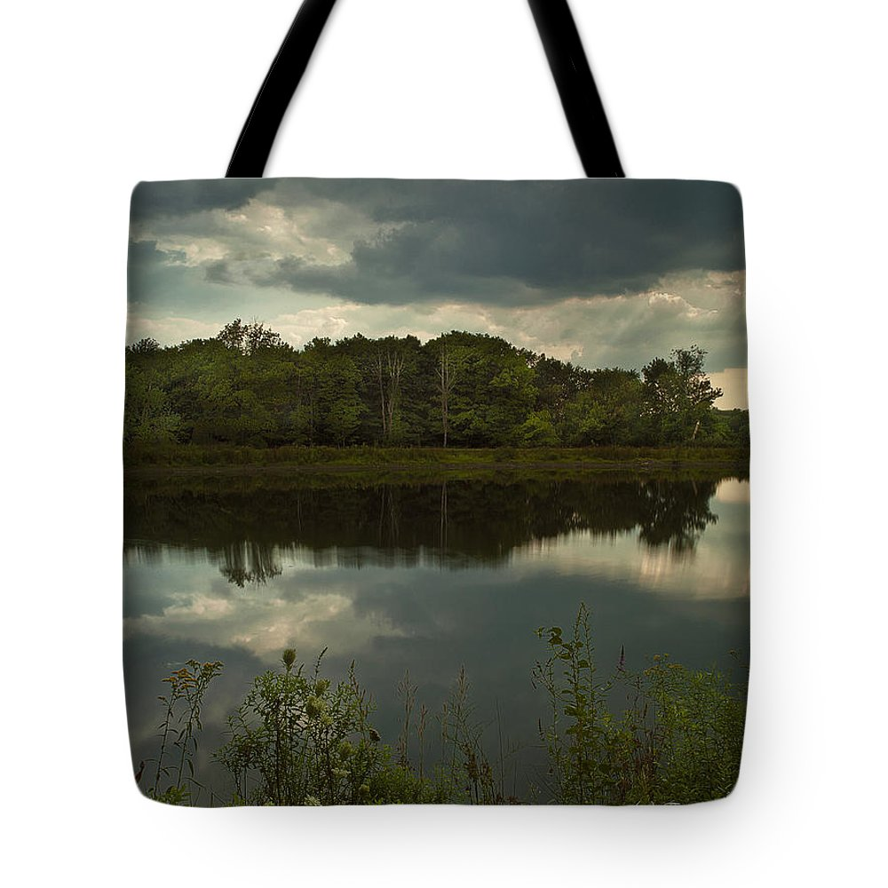 New York Tote Bag featuring the photograph Cloud Reflections by Fran Gallogly