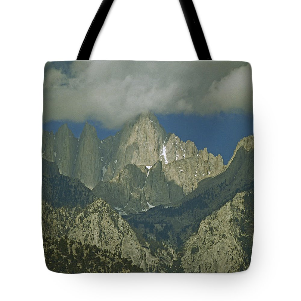 Color Image Tote Bag featuring the photograph Clouds Shadow Rocky Mountain Peaks by Gordon Wiltsie