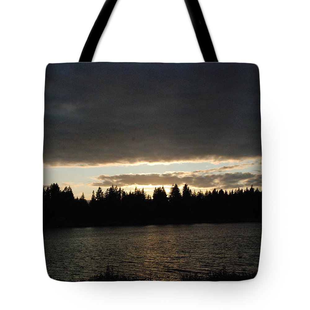 Clouds Tote Bag featuring the photograph Cloudy Sunset by Michael Merry