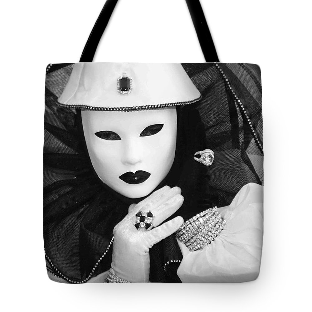 Venice Tote Bag featuring the photograph Clown Of Diamonds by Donna Corless