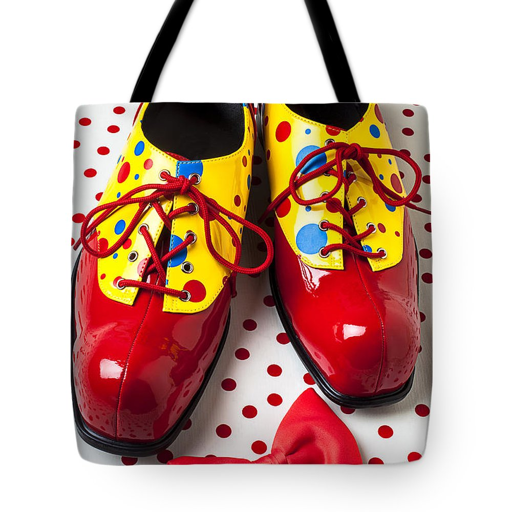 Clown Tote Bag featuring the photograph Clown Shoes by Garry Gay