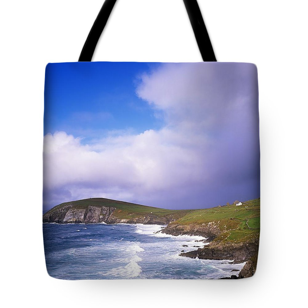 Co Kerry Tote Bag featuring the photograph Co Kerry - Dingle Peninsula, Dunmore by The Irish Image Collection