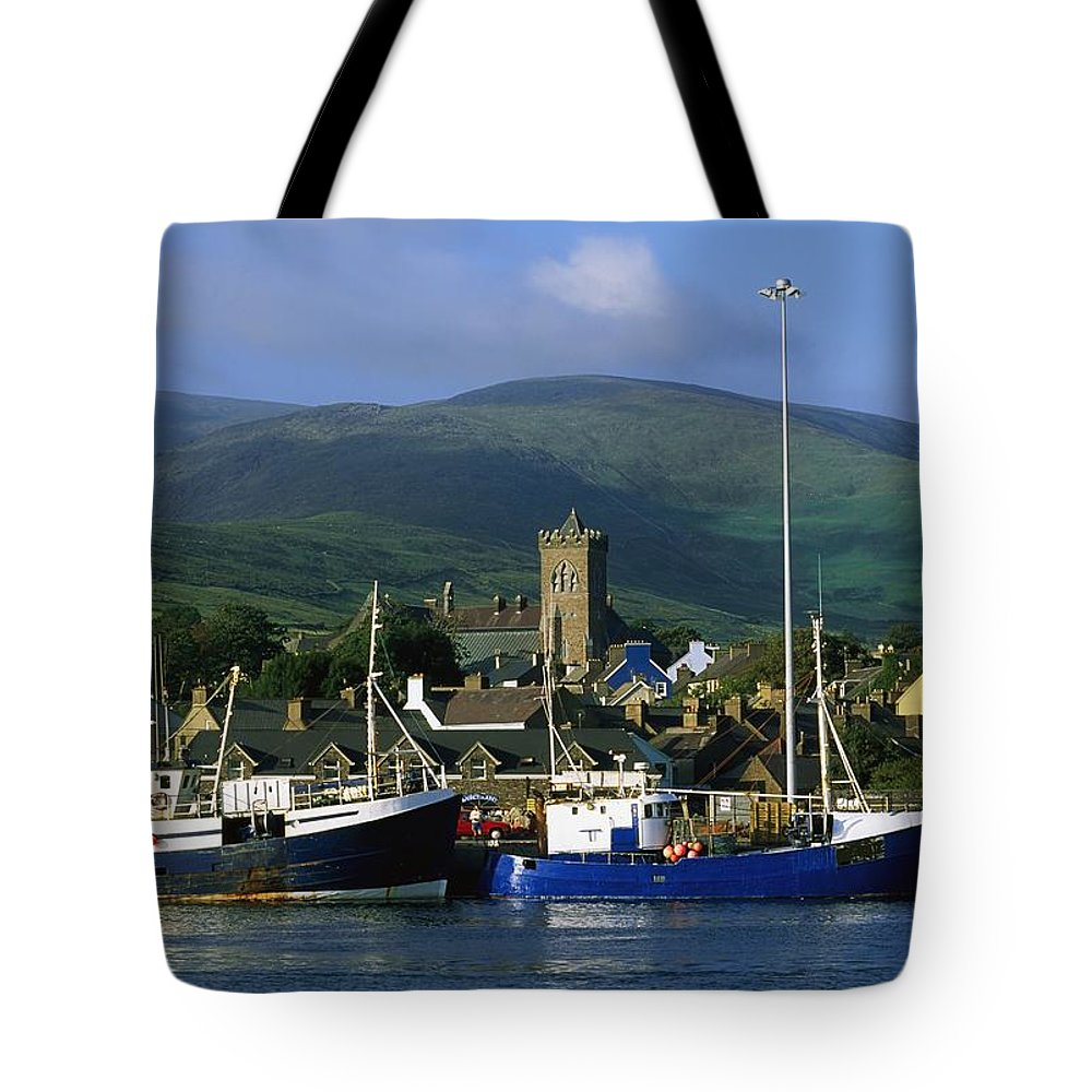 Architecture Tote Bag featuring the photograph Co Kerry, Dingle Harbour by The Irish Image Collection
