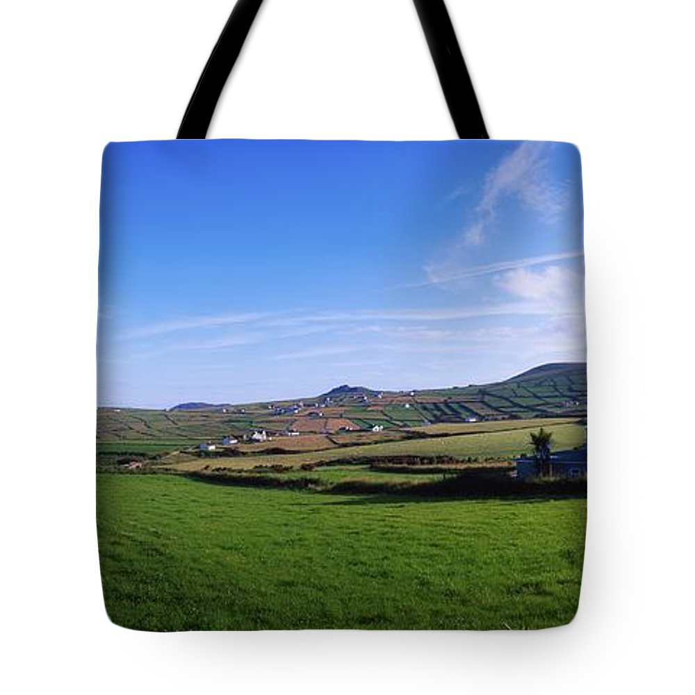 Village Tote Bag featuring the photograph Co Kerry, Dingle Peninsula, Dunquin by The Irish Image Collection