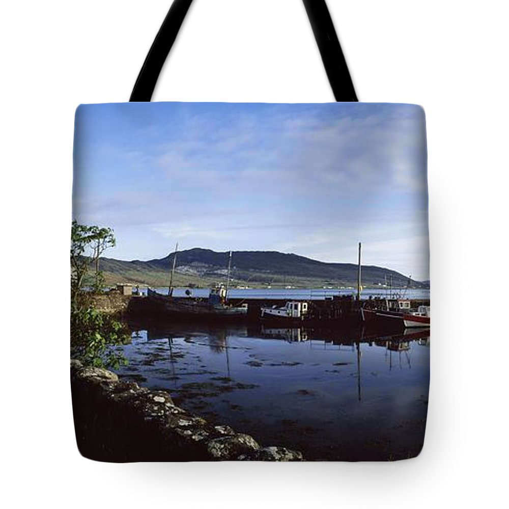 Blue Sky Tote Bag featuring the photograph Co Mayo, Achill Sound by The Irish Image Collection