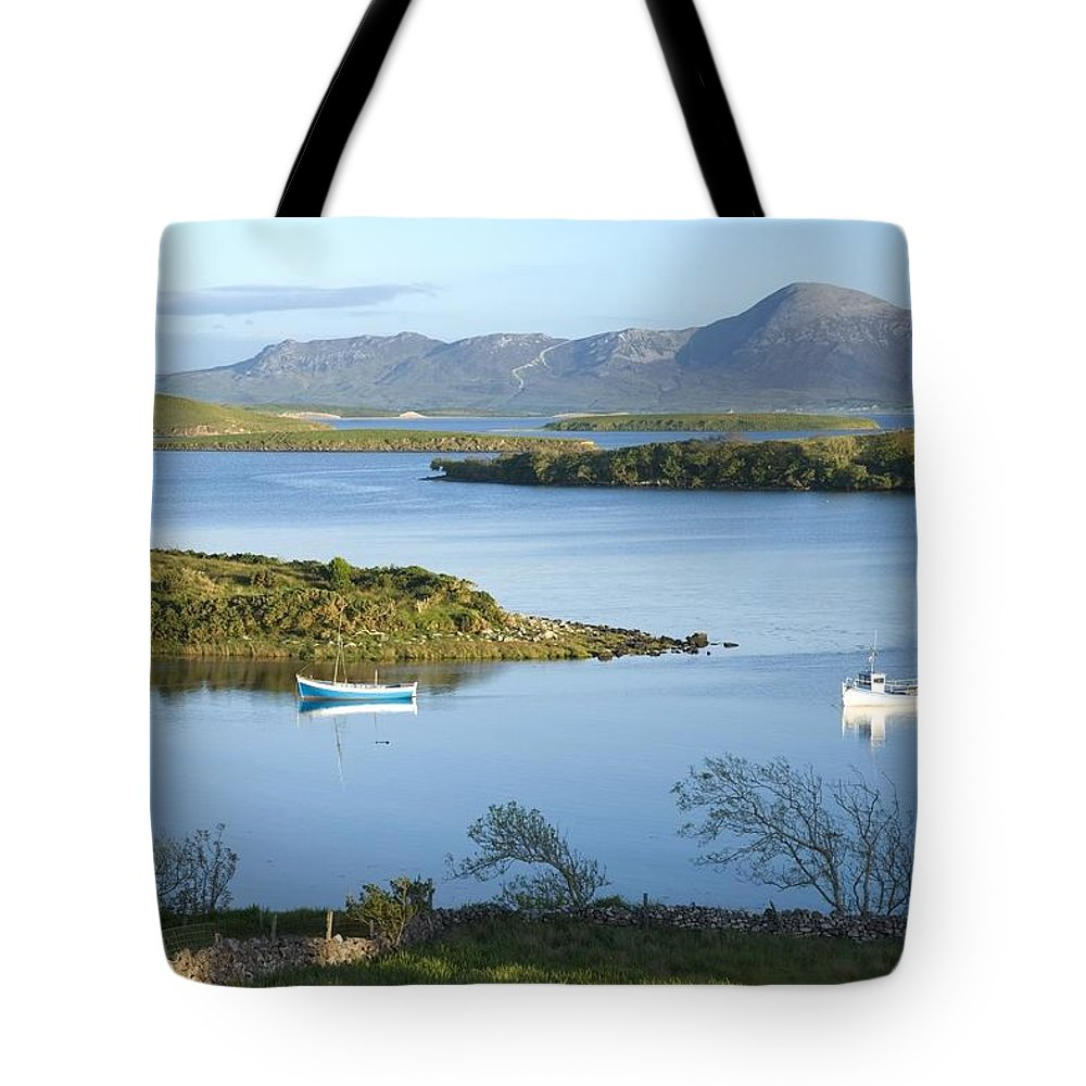 Outdoors Tote Bag featuring the photograph Co Mayo, Ireland Evening View Across by Gareth McCormack