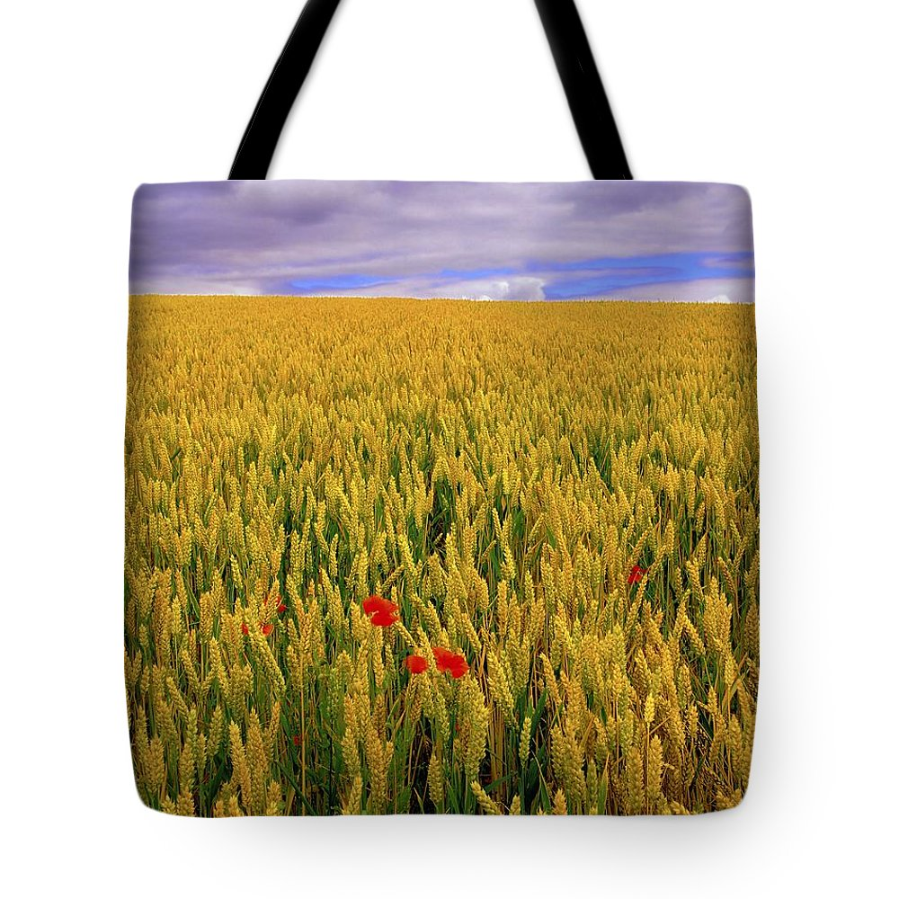 Beauty In Nature Tote Bag featuring the photograph Co Waterford, Ireland Poppies In A by The Irish Image Collection