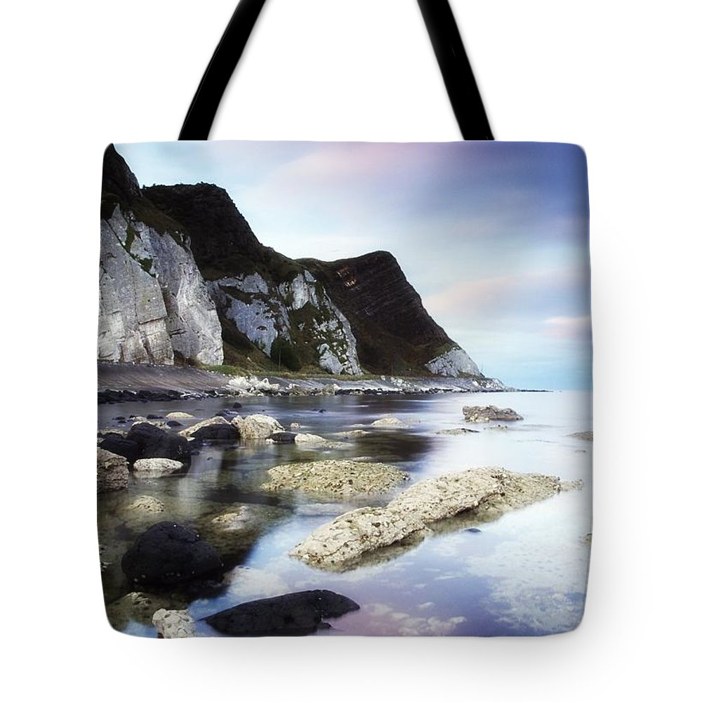Atmosphere Tote Bag featuring the photograph Coast Between Carnlough & Waterfoot, Co by The Irish Image Collection