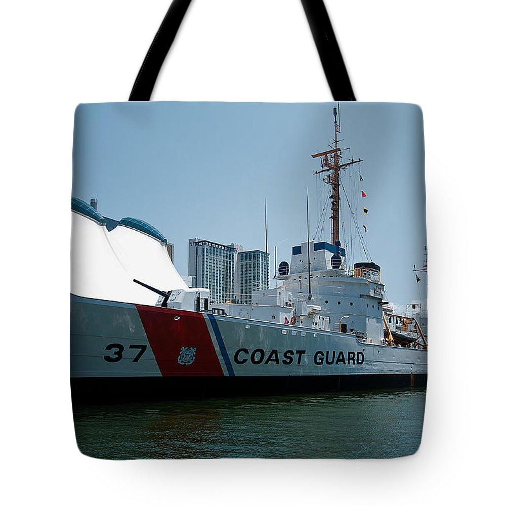 coast Guard Tote Bag featuring the photograph Coast Guard History by Paul Mangold
