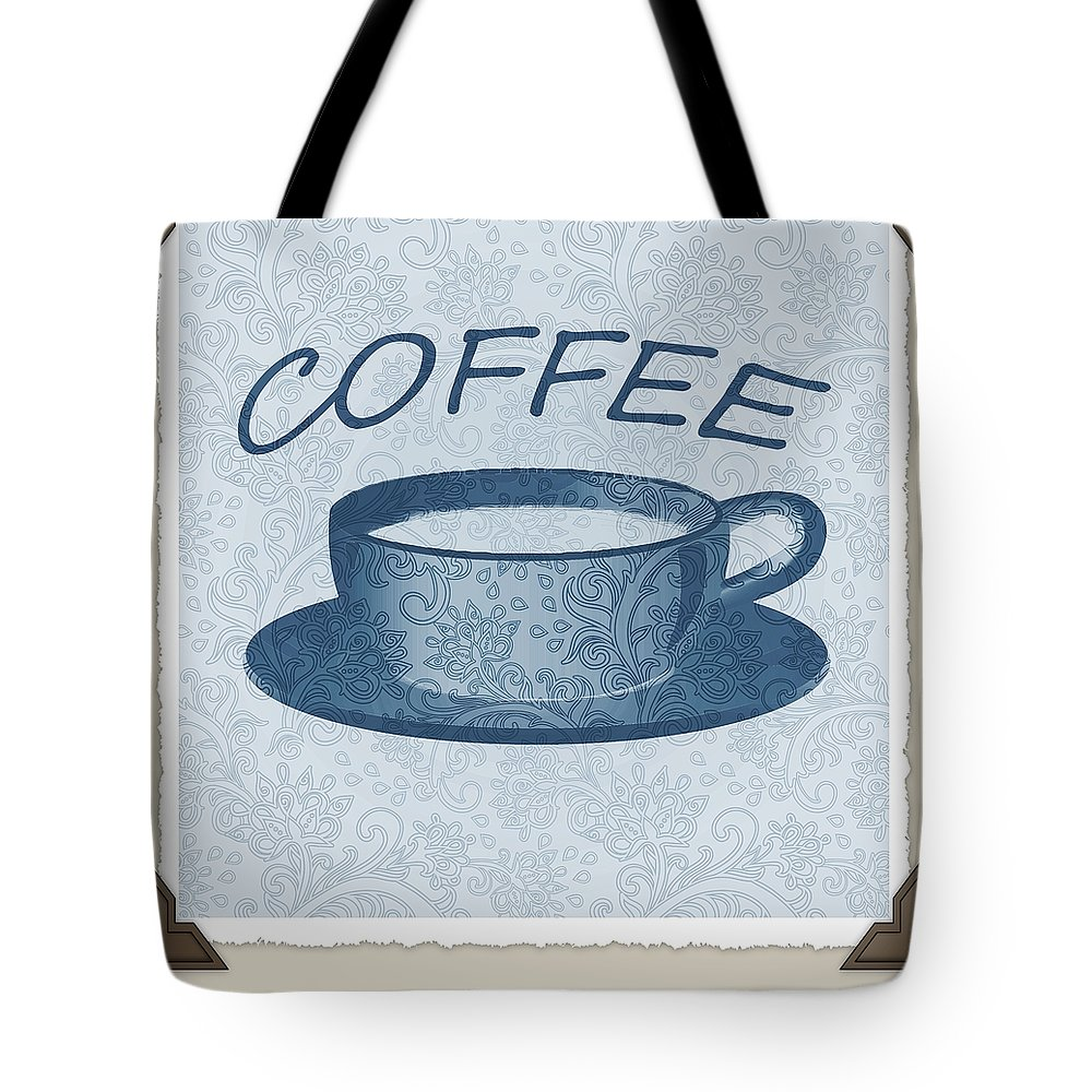 Coffee Tote Bag featuring the digital art Coffee 1-2 Scrapbook by Angelina Vick