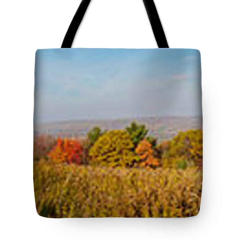 Cohocton Tote Bag featuring the photograph Cohocton Panorama by William Norton