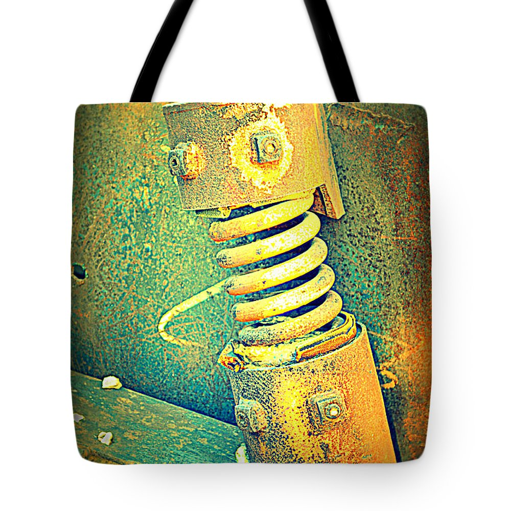 Rusted Metal Tote Bag featuring the photograph Coil by Diane montana Jansson