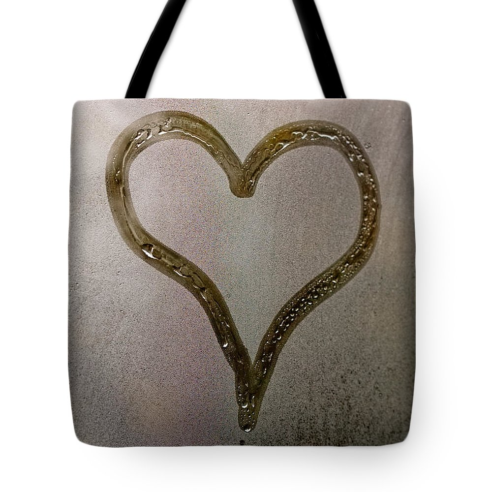 Abstract Tote Bag featuring the photograph Cold Heart by Stelios Kleanthous