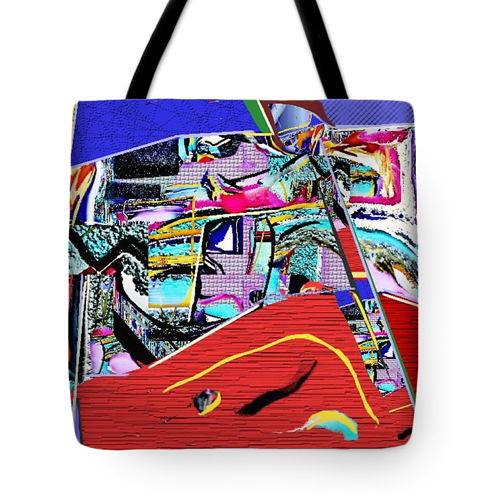 Paintings Tote Bag featuring the painting Collage 128 by Nedunseralathan R