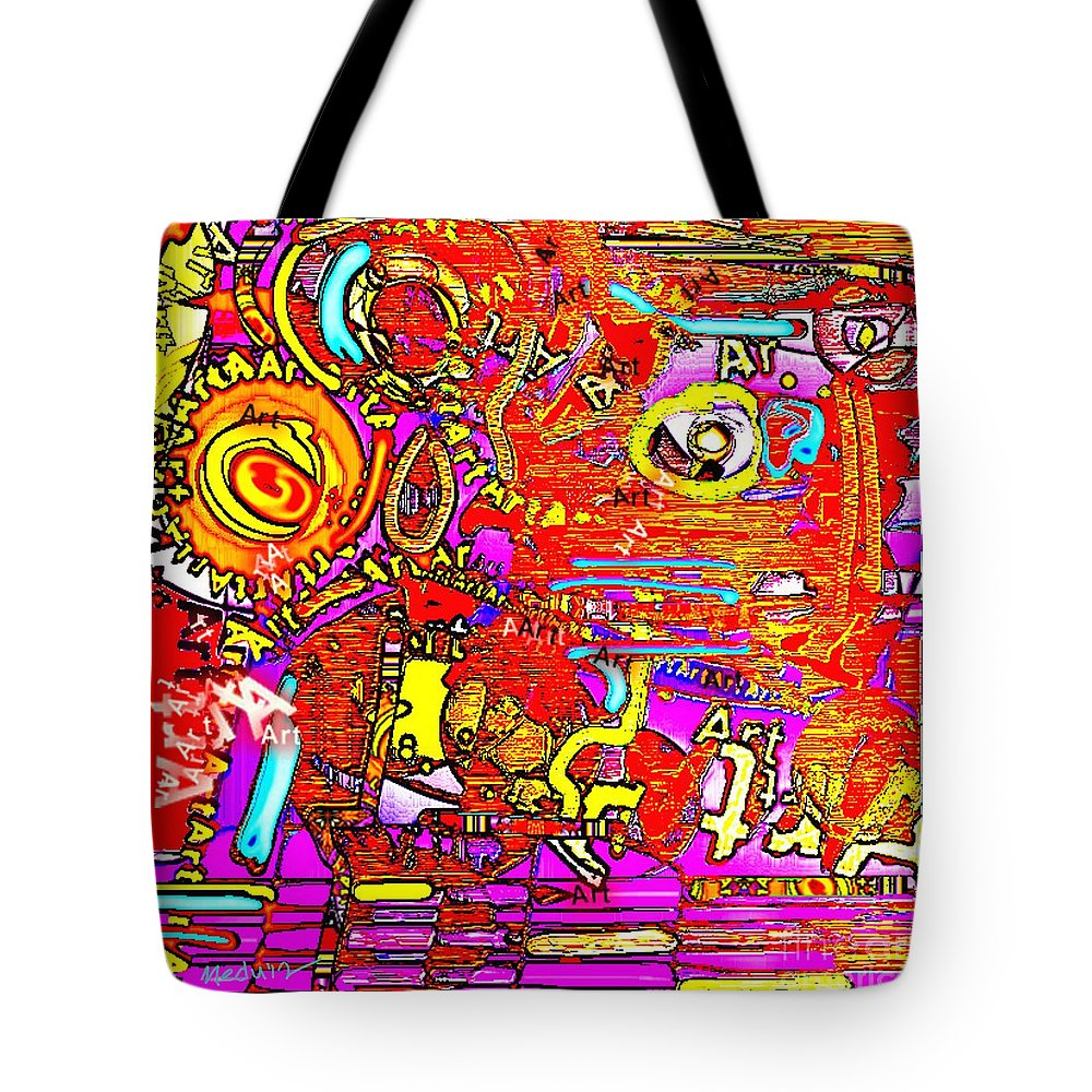 Paintings Tote Bag featuring the painting Collage 133 by Nedunseralathan R