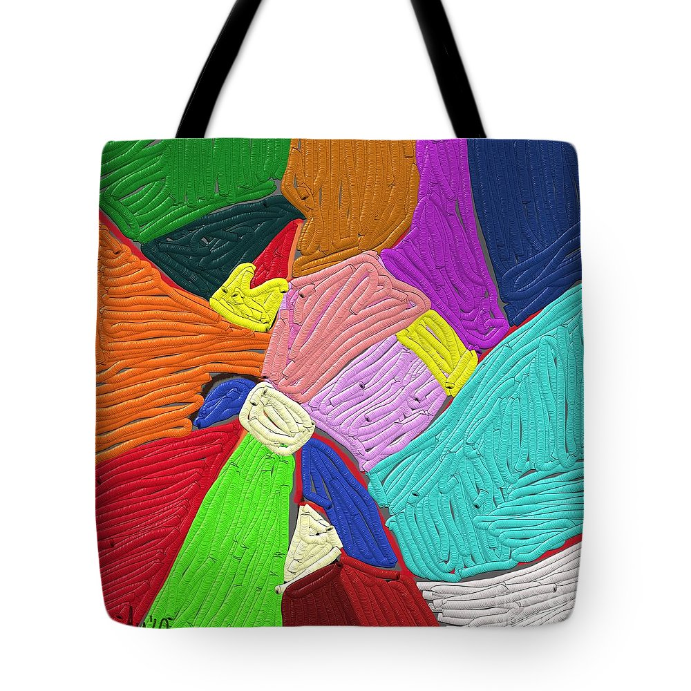 Color Tote Bag featuring the painting Color Tectures by Nedunseralathan R