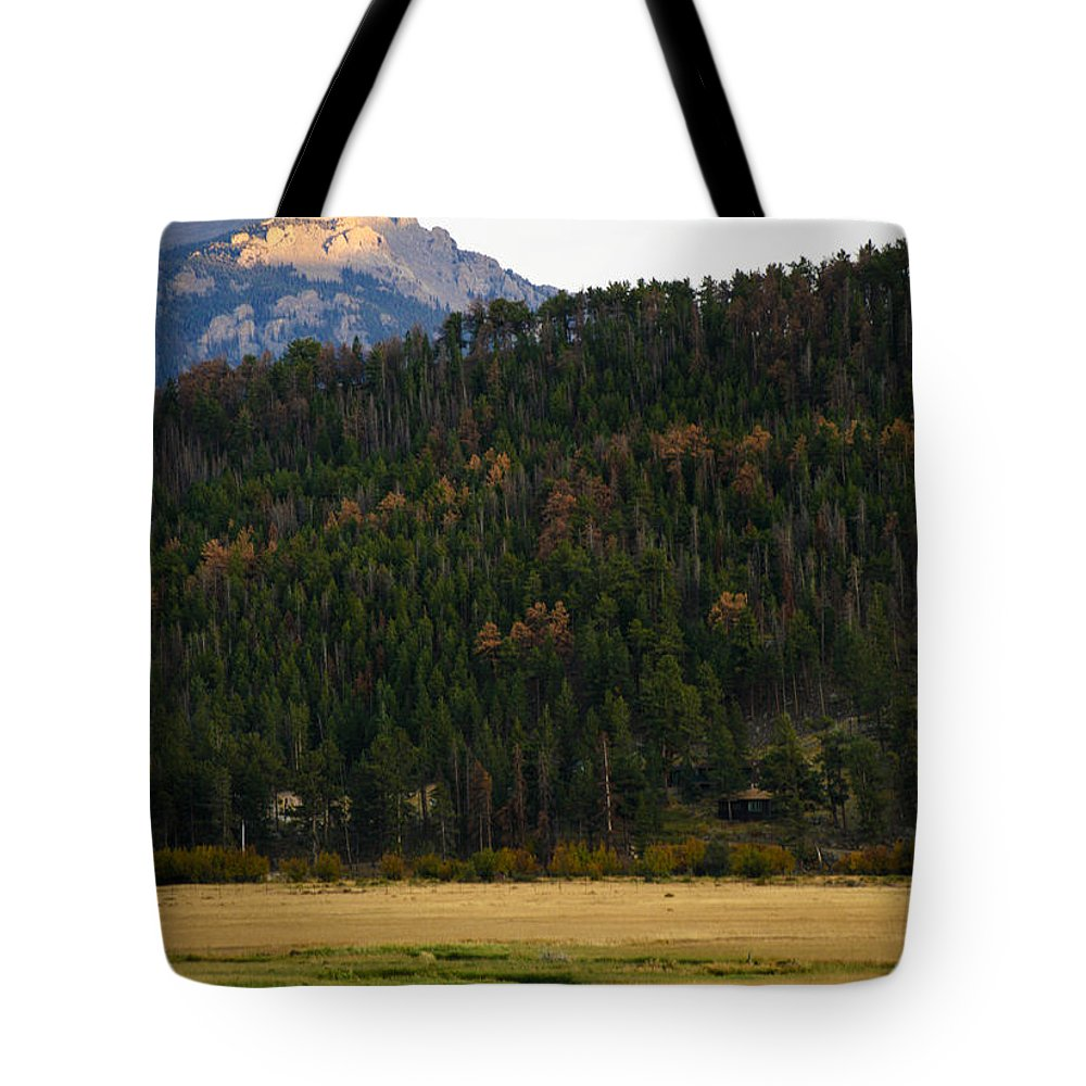 Rocky Tote Bag featuring the photograph Colorado Fall by Marilyn Hunt