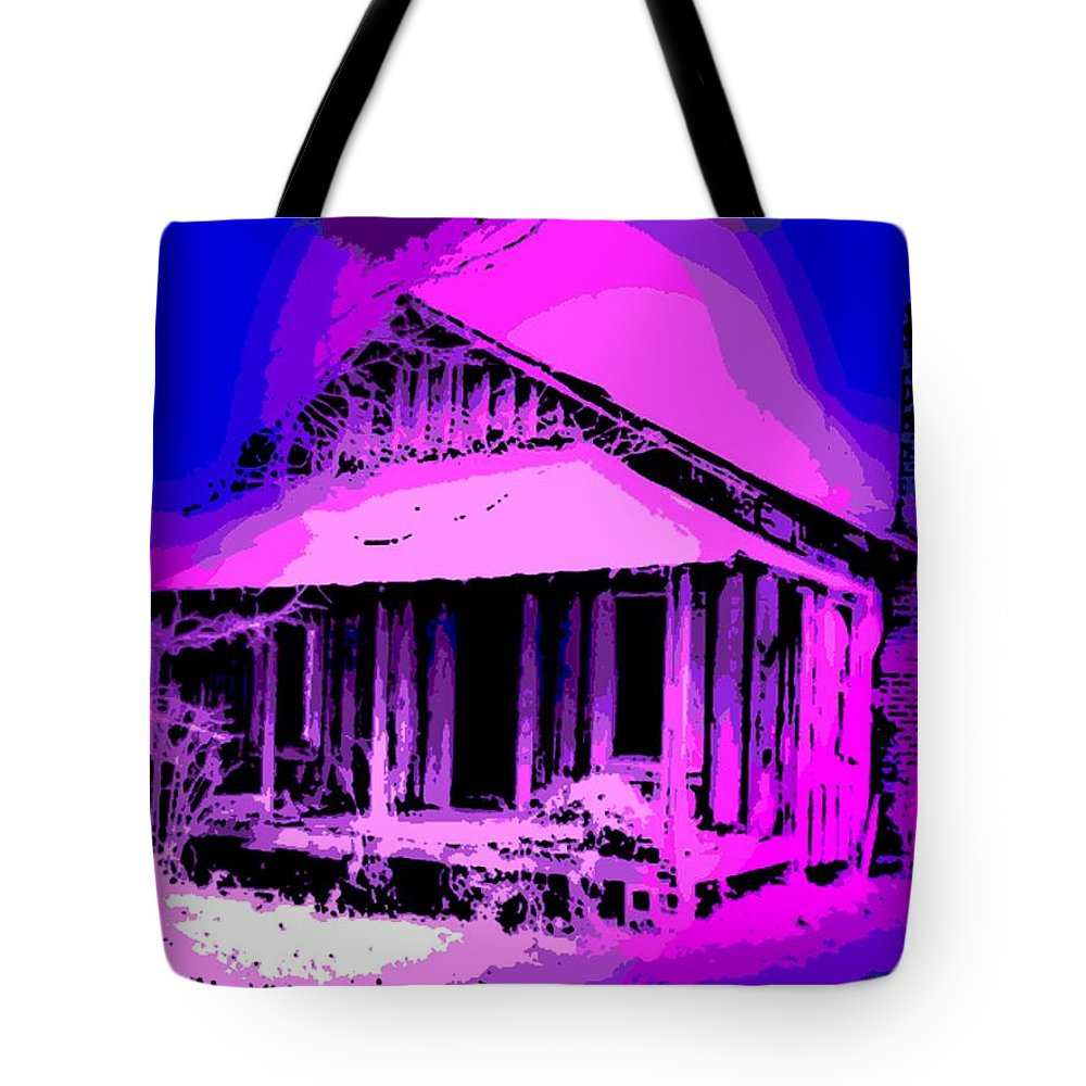 Colorful Tote Bag featuring the photograph Colorful Cracker House by George Pedro
