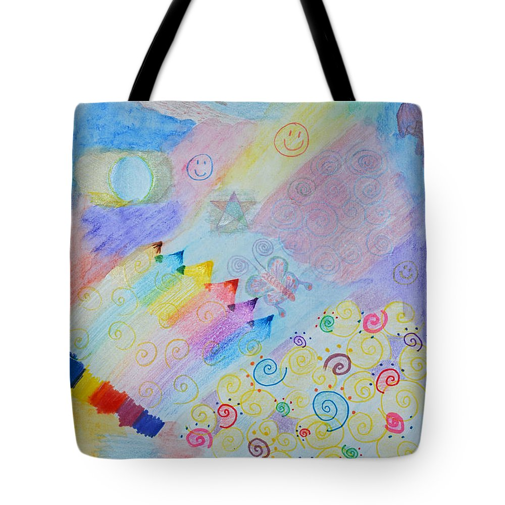 Abstracrt Tote Bag featuring the photograph Colorful Doodling Original Art by Debbie Portwood