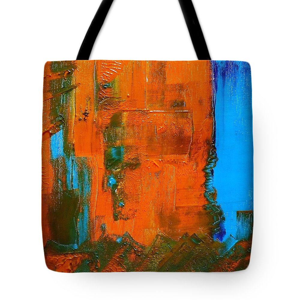 Colors Tote Bag featuring the painting Colorz 8 by Piety Dsilva
