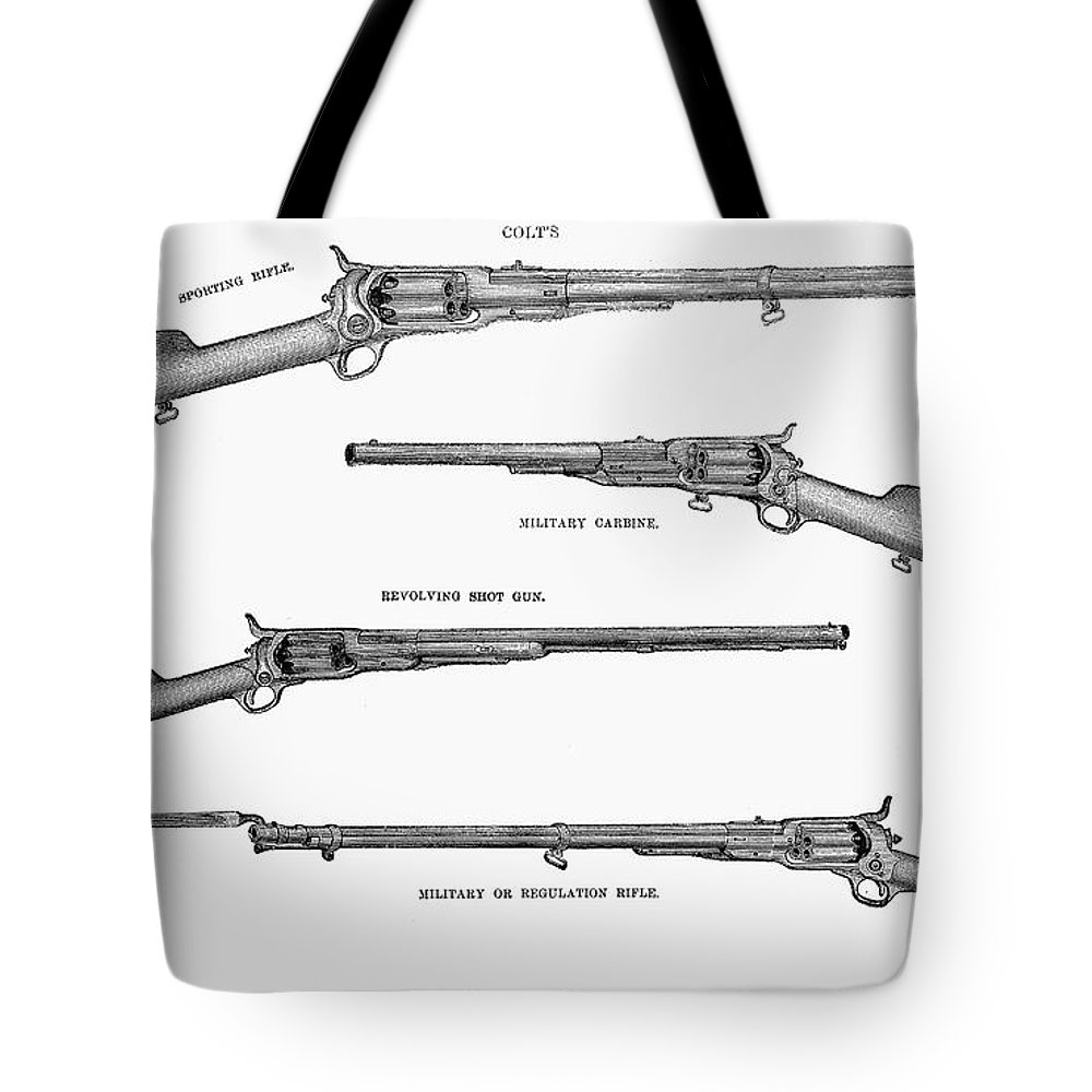 1867 Tote Bag featuring the photograph Colt Weapons, 1867 by Granger