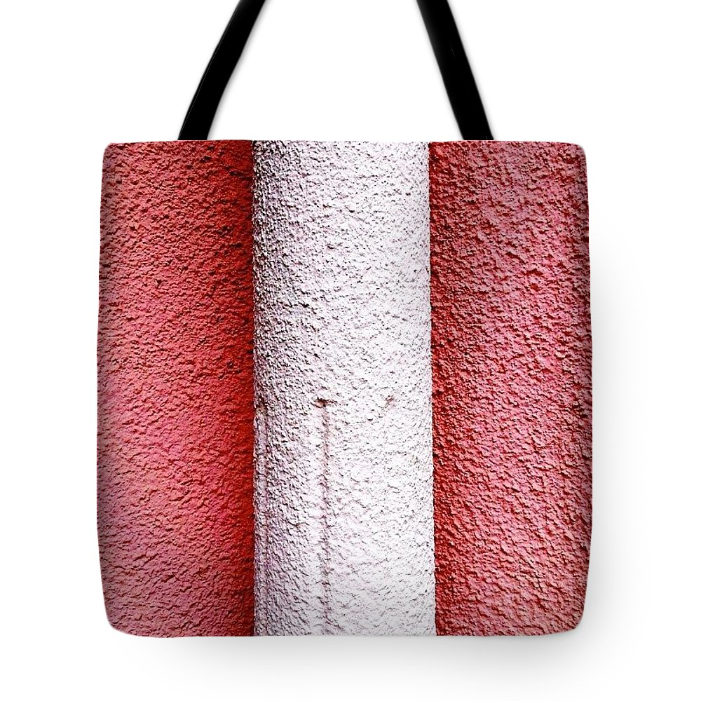 Pink Tote Bag featuring the photograph Column detail by Julie Gebhardt