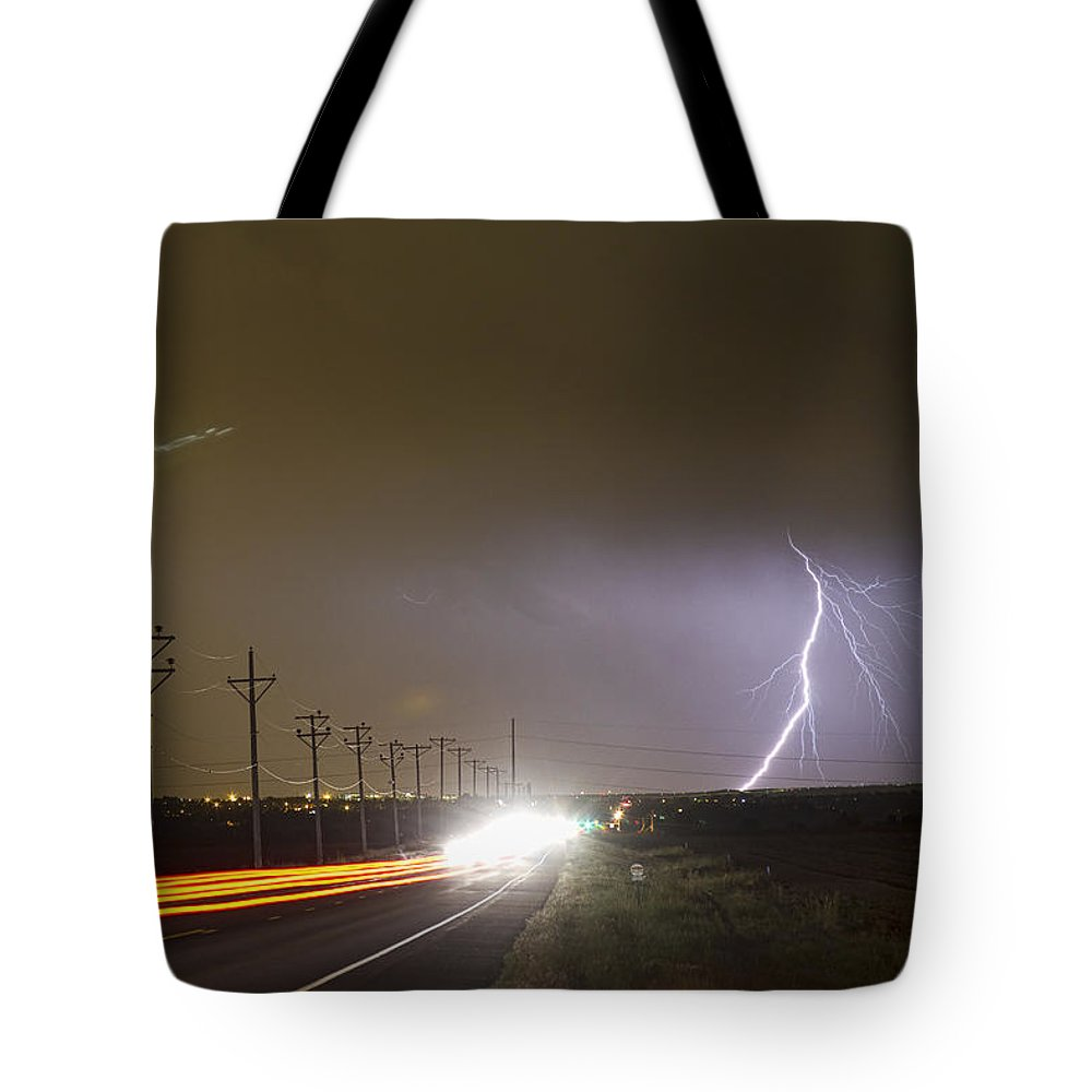 Lightning Tote Bag featuring the photograph Come Into The Light Lightning Strike by James BO Insogna