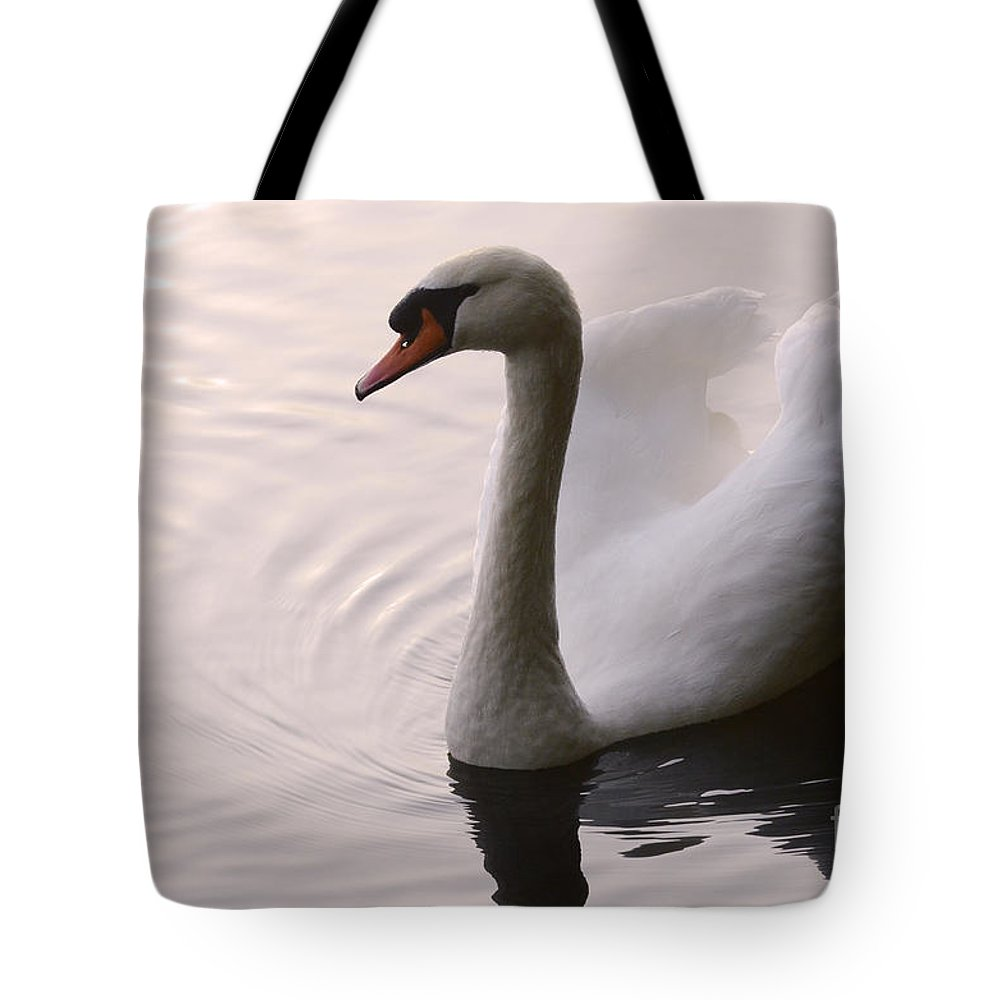 Swan Tote Bag featuring the photograph Completely Elegant by Bob Christopher