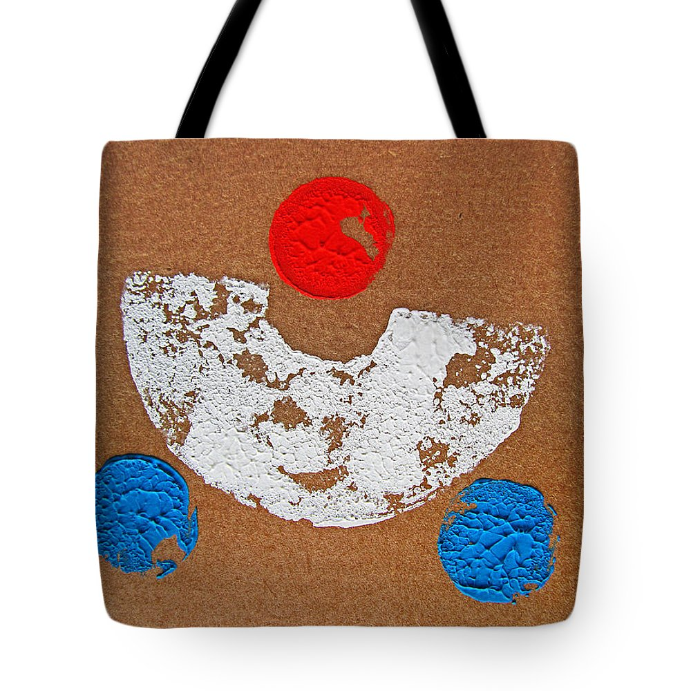 Sun Tote Bag featuring the painting Composition Auto by Charles Stuart