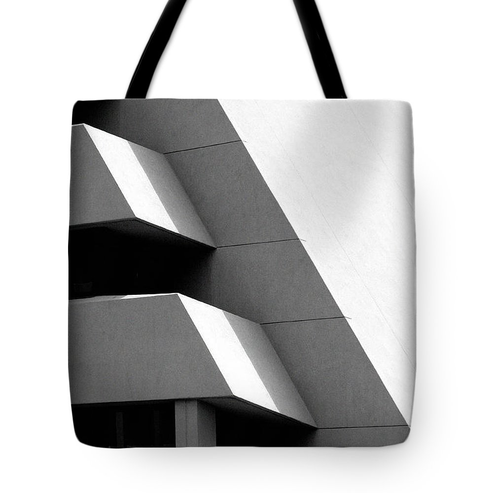 Architectural Tote Bag featuring the photograph Concretely Abstract View by Vicki Pelham