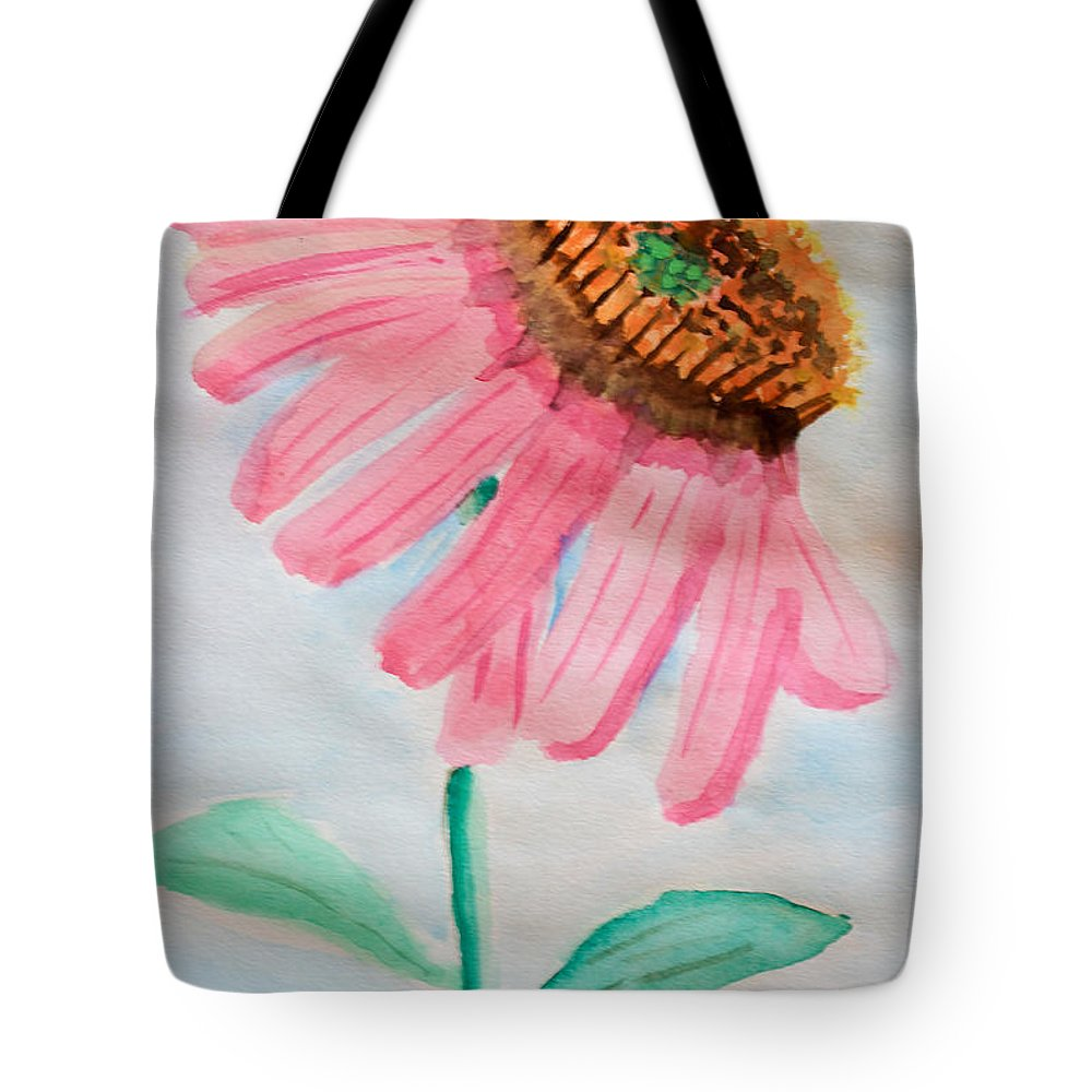 Coneflower Tote Bag featuring the painting Coneflower - Watercolor by Heidi Smith