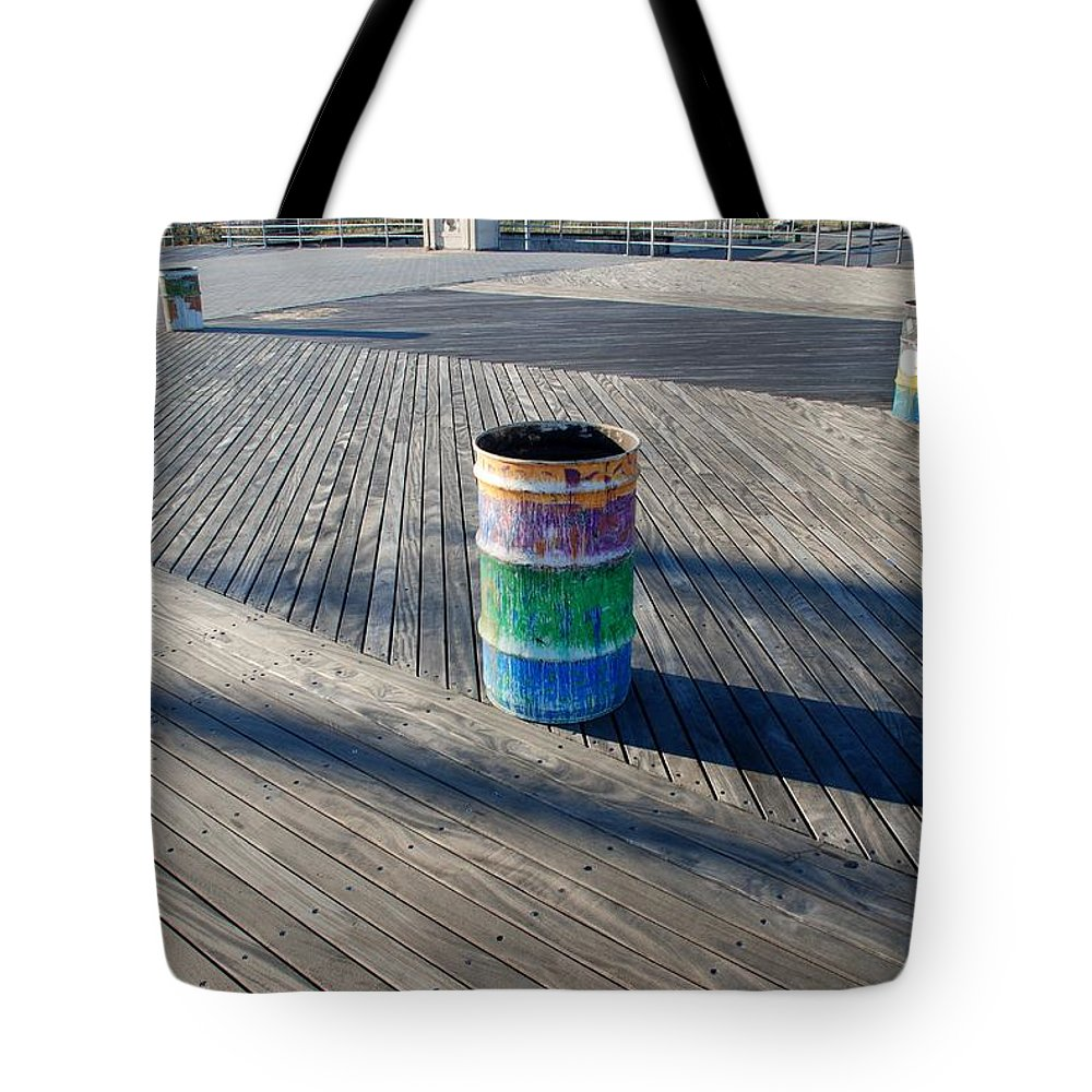 Brooklyn Tote Bag featuring the photograph Coney Island Boardwalk by Rob Hans