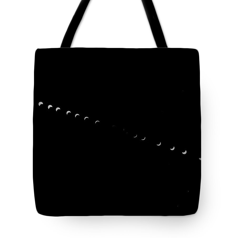 Eclipse Tote Bag featuring the photograph Contemporaneous Eclipse 3/18/69 by Lin Grosvenor
