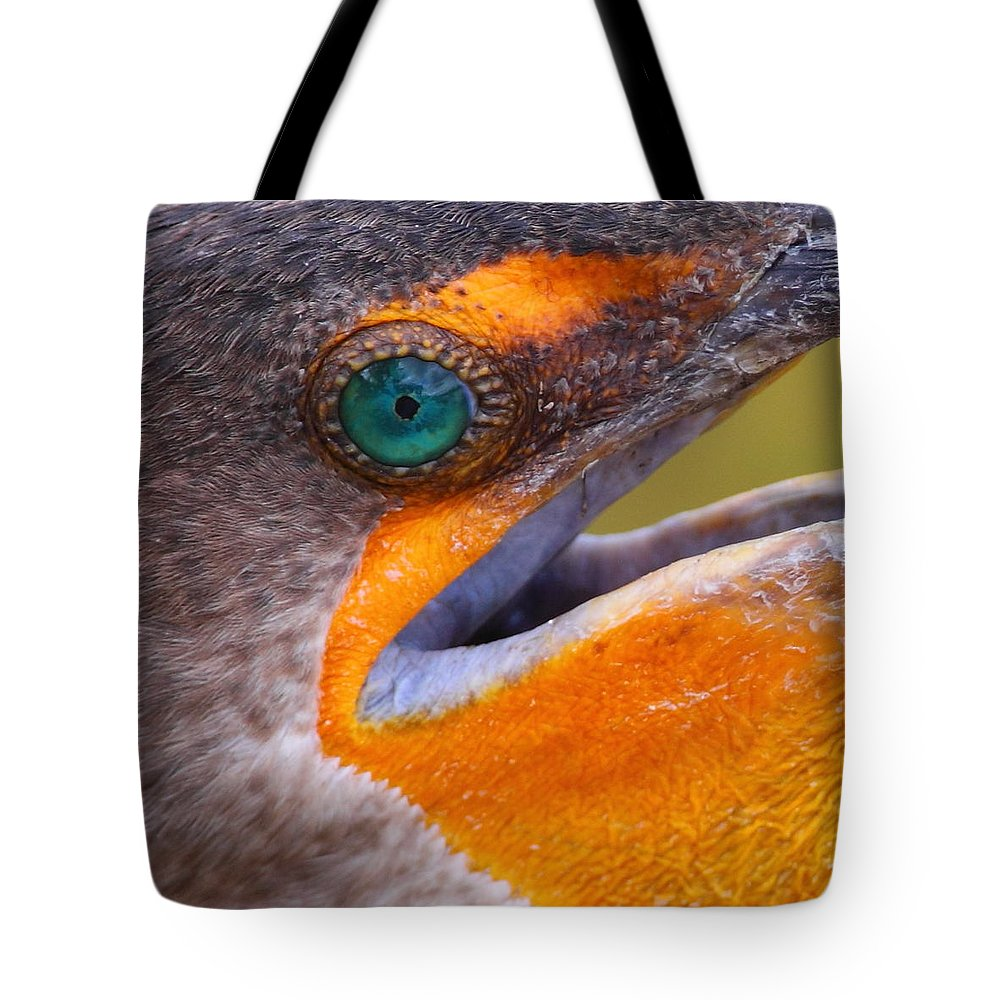 Cormorant Tote Bag featuring the photograph Cormorant Abstract by Bruce J Robinson