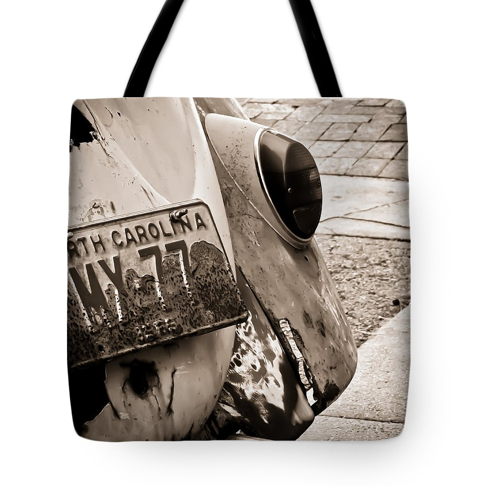 Volkswagen Tote Bag featuring the photograph Corner Parking by Jessica Brawley