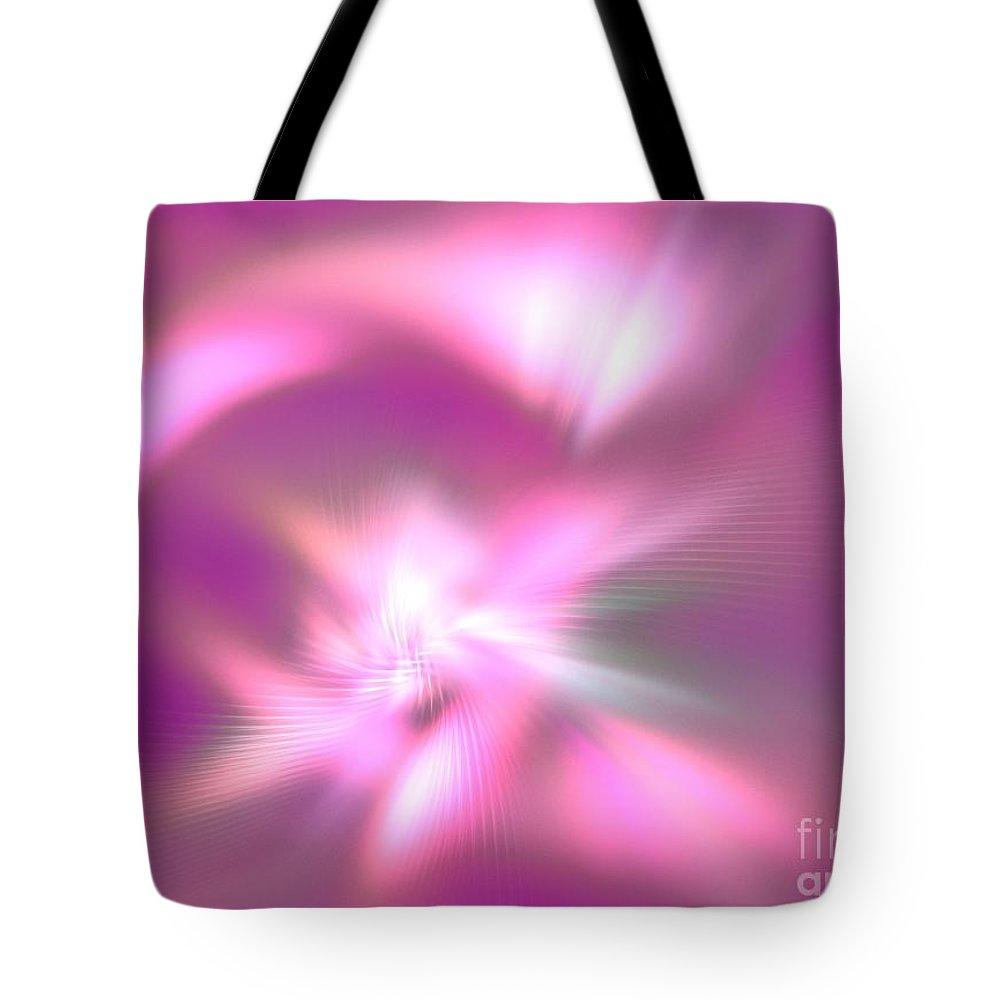 Apophysis Tote Bag featuring the digital art Corona Borealis by Kim Sy Ok