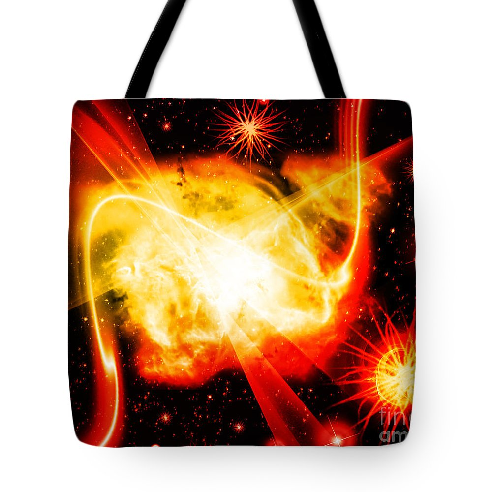 Tote Bag featuring the digital art Cos 44 by Taylor Webb