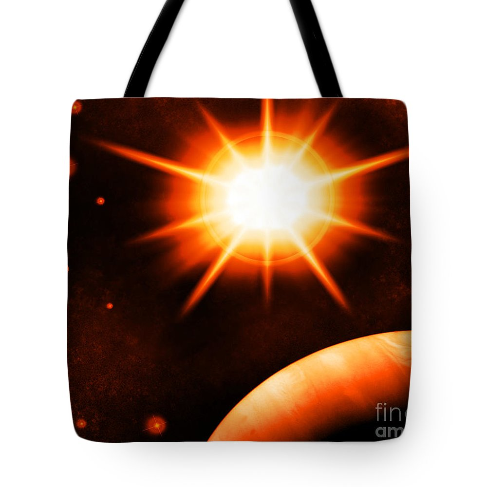 Tote Bag featuring the digital art Cos 51 by Taylor Webb