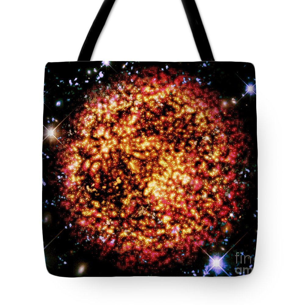 Tote Bag featuring the digital art Cos 53 by Taylor Webb