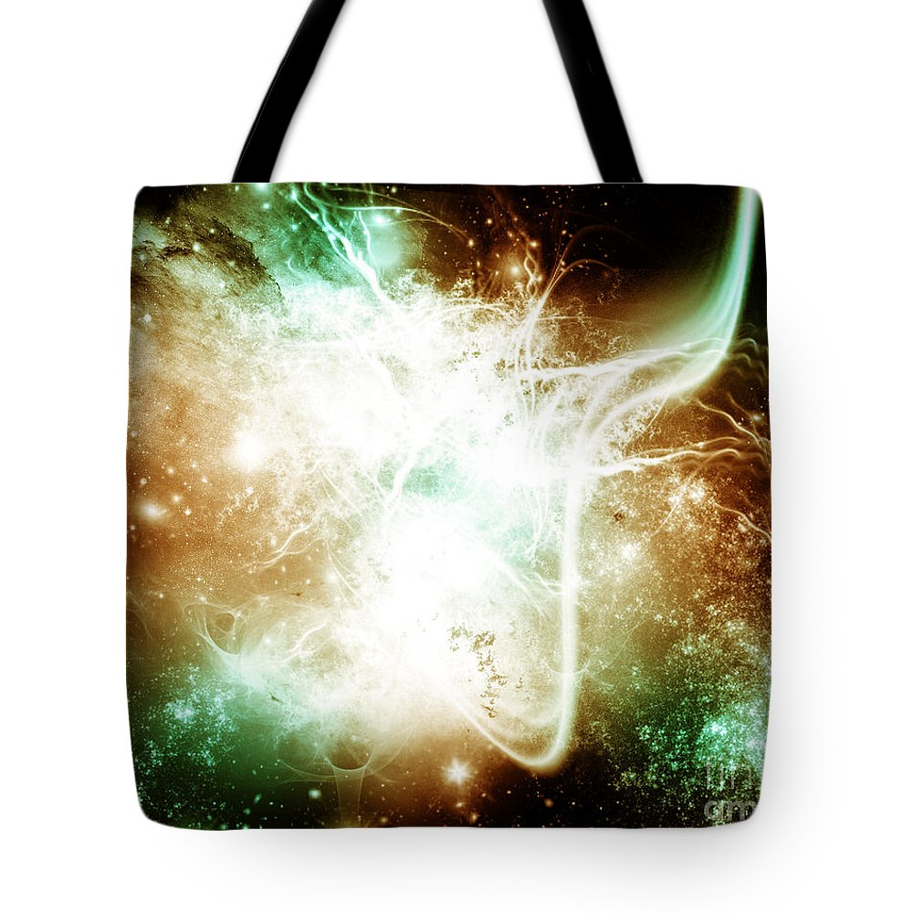 Tote Bag featuring the digital art Cos 56 by Taylor Webb