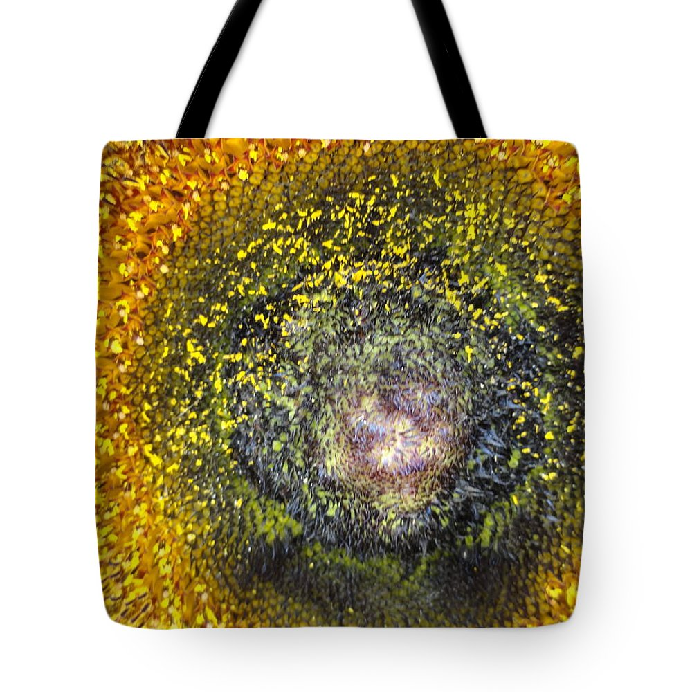 Sunflower Tote Bag featuring the photograph Cosmic by Shannon Grissom