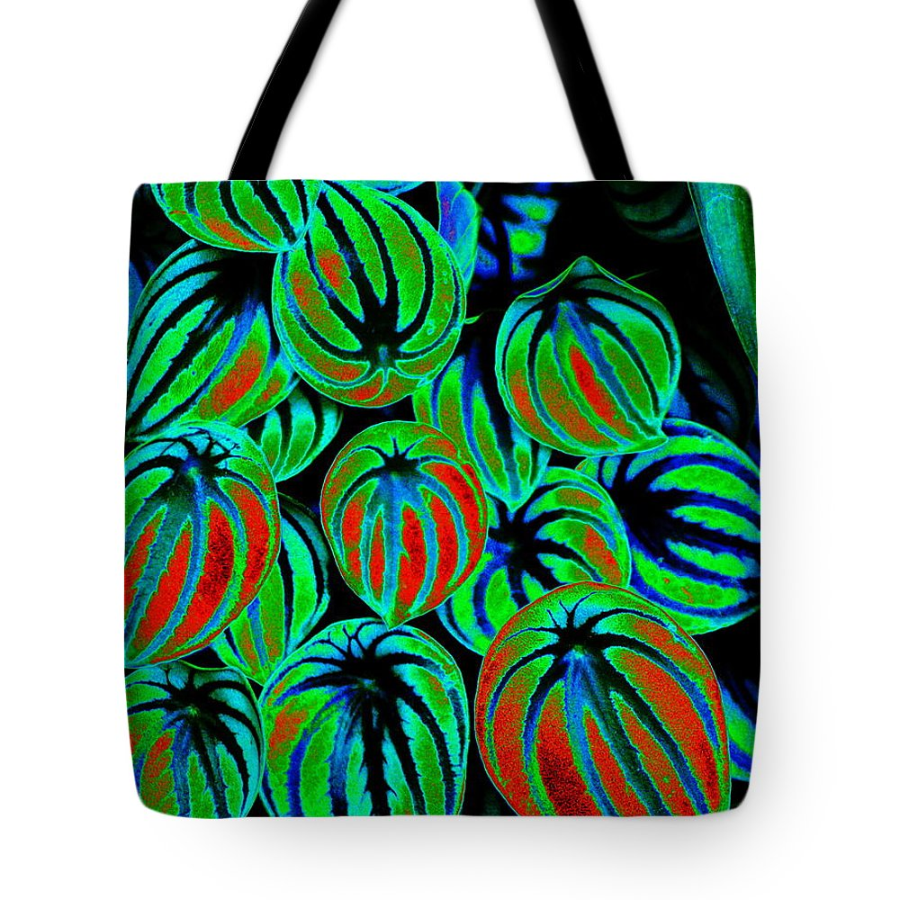 Flowers Tote Bag featuring the photograph Cosmic Watermelon Leaves by Ben Upham III
