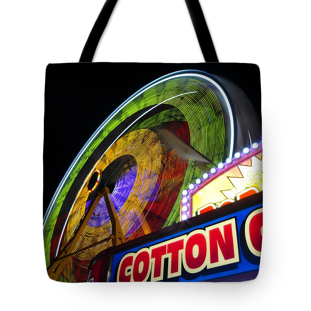 Fine Art Photography Tote Bag featuring the photograph Cotton Candy Fun by David Lee Thompson