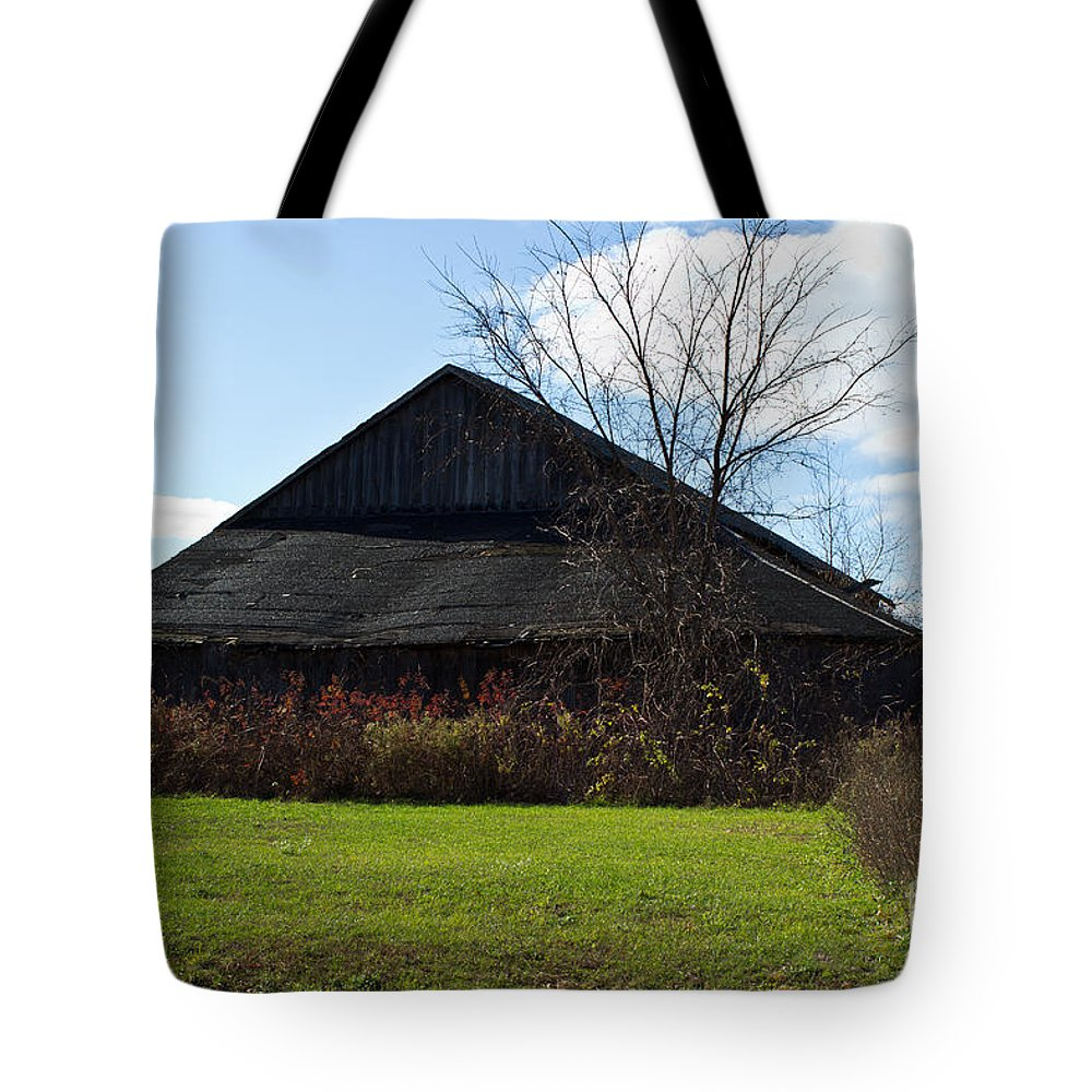 Abandoned Tote Bag featuring the photograph Country Barn by Ms Judi