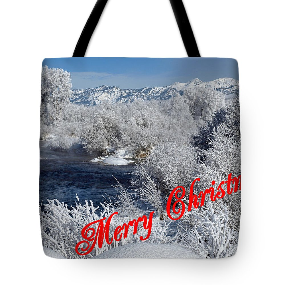 Christmas Tote Bag featuring the photograph Country Christmas 2 by DeeLon Merritt
