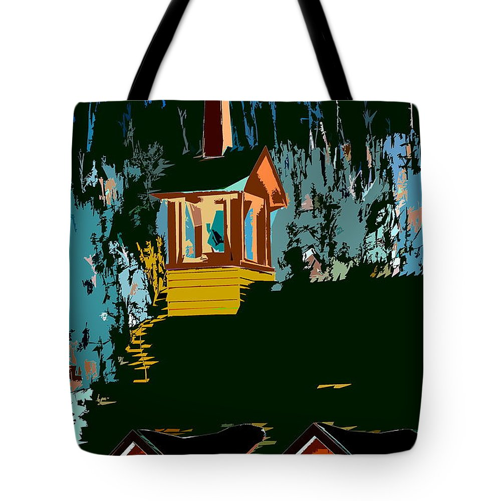 Church Tote Bag featuring the photograph Country Church by Burney Lieberman