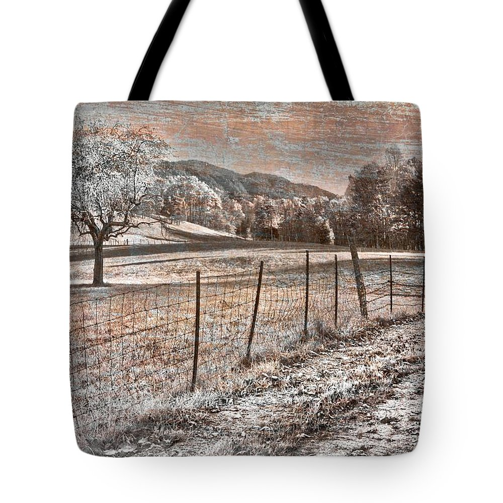 Appalachia Tote Bag featuring the photograph Country Lane by Debra and Dave Vanderlaan