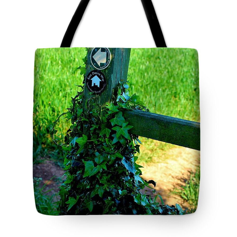 Gate Tote Bag featuring the photograph Country Post by Rene Triay Photography