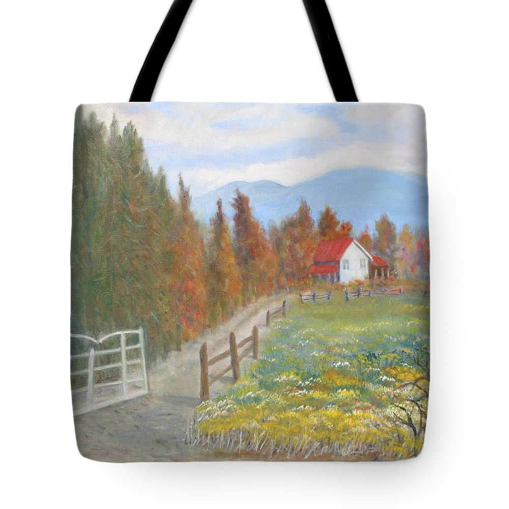 Tote Bag featuring the painting Country Road by Ben Kiger